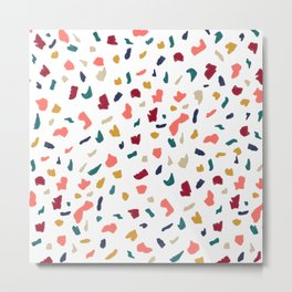 Modern abstract marble mozaic terrazzo pattern Metal Print
