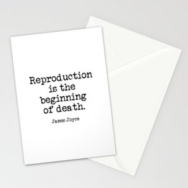 Memento Mori (James Joyce quote from A Portrait of the Artist as a Young Man) Stationery Cards