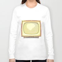 tv Long Sleeve T-shirts featuring Television* by Mr and Mrs Quirynen