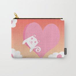 White Cat at Sunset  Carry-All Pouch