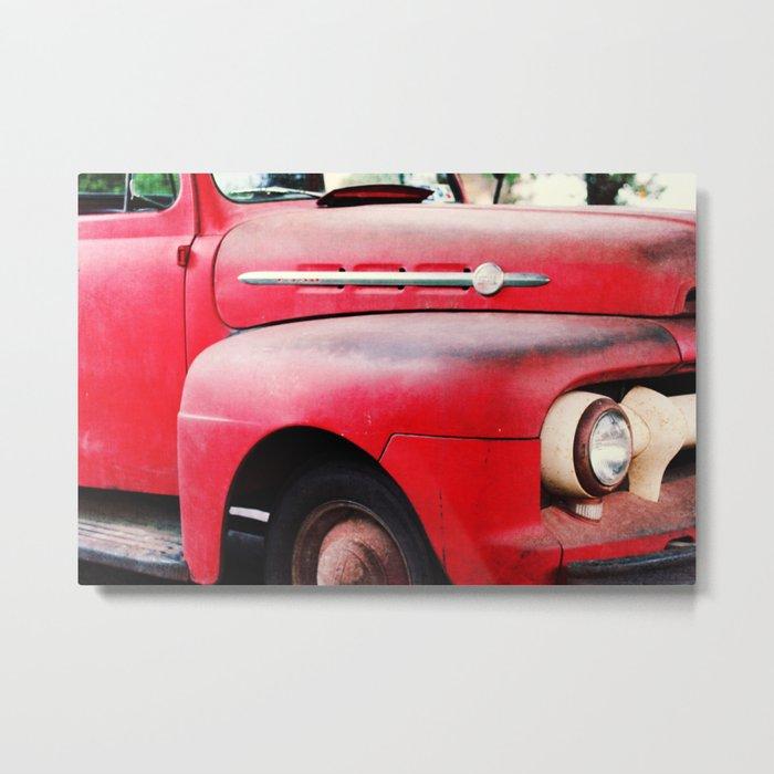 old red Metal Print