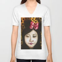 minnie V-neck T-shirts featuring minnie by NAME THEGREY