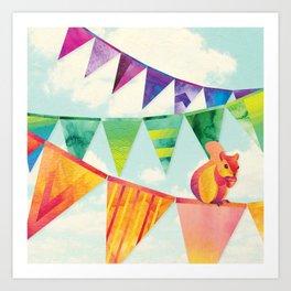 Shanti Sparrow: Hamish the Squirrel Art Print