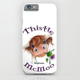 Thistle MacKenzie-McMoo by Fiona Bárcenas iPhone Case