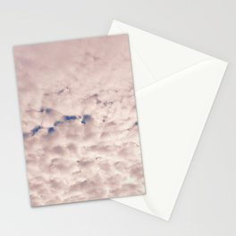 Pink Cotton Candy Clouds Stationery Cards