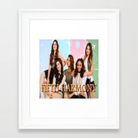 fifth harmony Framed Art Prints featuring fifth harmony best design home decoration ideas by customgift
