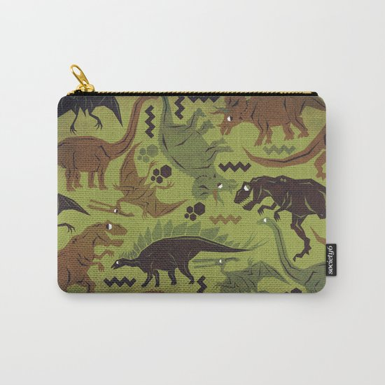 Camouflage Dinosaur Geometric Pattern Carry-All Pouch