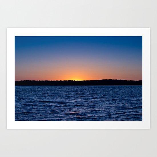 Blue Sunrise Art Print