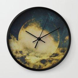 Golden moon Wall Clock
