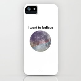 I Want to Believe, Pastel Moon iPhone Case