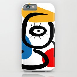 Hommage to Miro iPhone Case