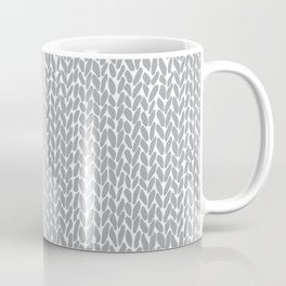 Hand Knit Light Grey Coffee Mug