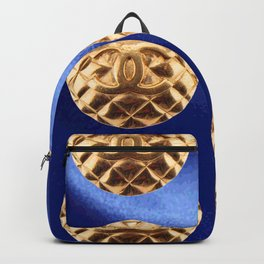 blue and gold vintage earrings Backpack