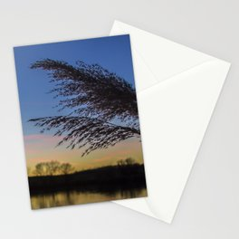 bluehour at the lake Stationery Cards