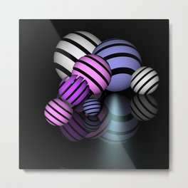 reflections and spheres -4- Metal Print