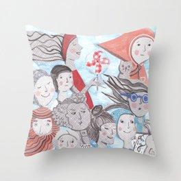 Breezy Parade Throw Pillow
