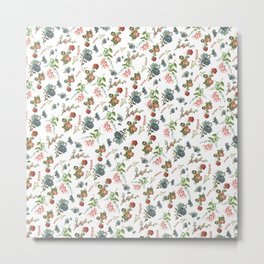 Antique Floral Pattern Metal Print