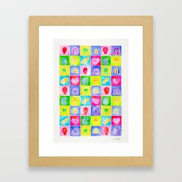 Rainbow Charms Framed Art Print