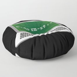Sudo rm | Linux Coding Terminal Floor Pillow