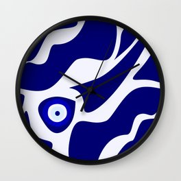 Evil Eye Lava Pattern Wall Clock