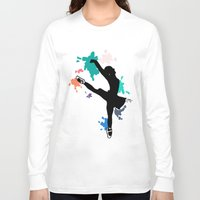 ballerina Long Sleeve T-shirts featuring Ballerina by Emma's Designs