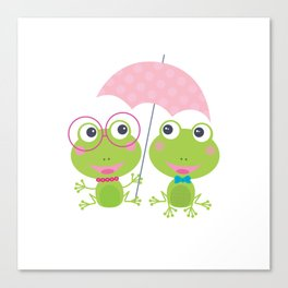 frog twin Canvas Print