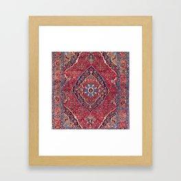 Bijar Kurdish Northwest Persian Rug Print Framed Art Print