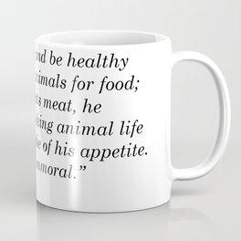 Leo Tolstoy Quote Coffee Mug