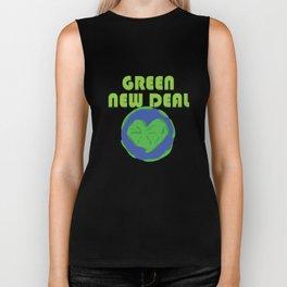 Green New Deal Love Earth Heart Biker Tank