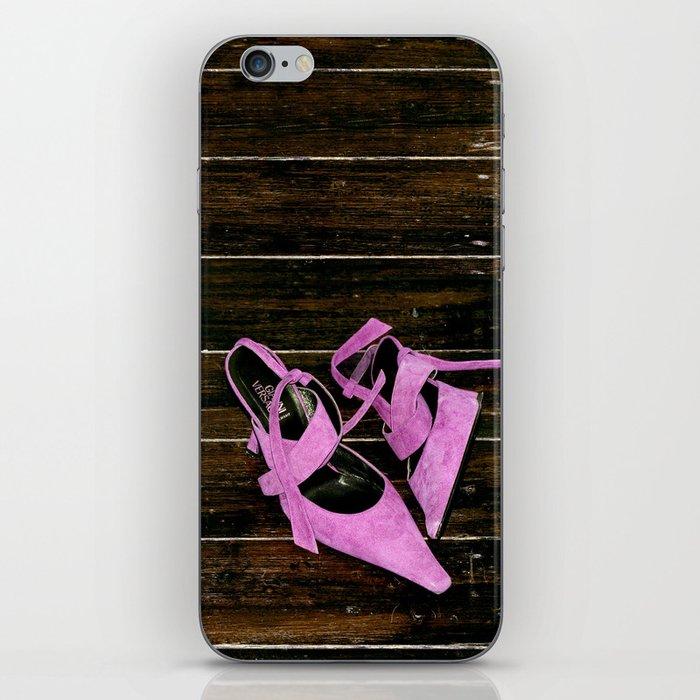 pink heels iPhone Skin