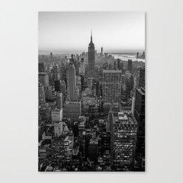 New York Skyline - Manhattan Black and White Canvas Print