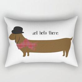 Well Hello There Dachshund Rectangular Pillow