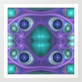 """Lavender Mint"" Fractal Flame Art Art Print"