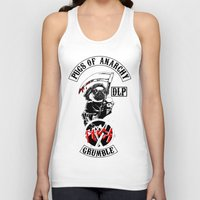 sons of anarchy Tank Tops featuring Pugs of Anarchy by Dark Lord Pug