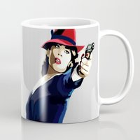 agent carter Mugs featuring AGENT CARTER Reporting for Duty by Danielle Aragon