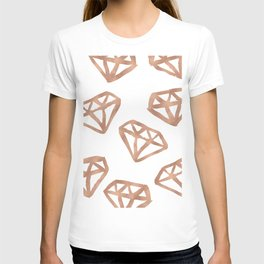 Rose gold diamond print T-shirt