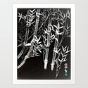 Black &White Bamboo by brushespapers