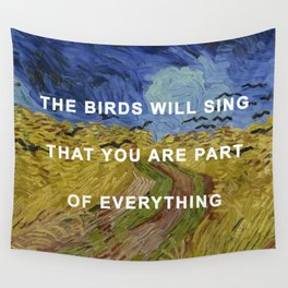 Prudence with Crows Wall Tapestry