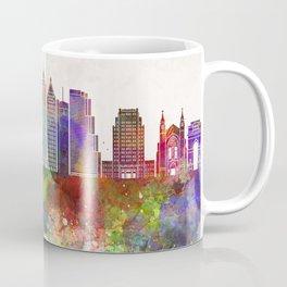 Atlanta V2 skyline in watercolor background Coffee Mug