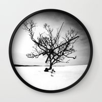 tree of life Wall Clocks featuring TREE LIFE by Maioriz Home