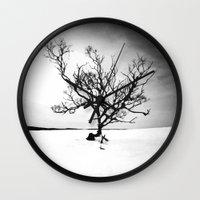 tree of life Wall Clocks featuring TREE LIFE by Maioriz Home