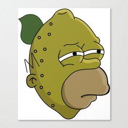 Homer Lemonhead Canvas Print