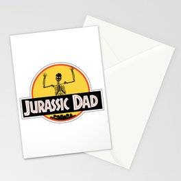 Jurassic Dad Dinosaur Skeleton Funny Birthday Gift 2 Stationery Cards