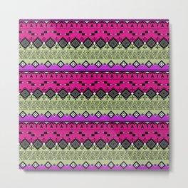 Colorful Aztec pattern. Metal Print
