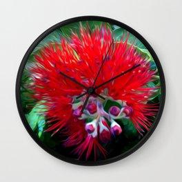 Liko Lehua - Budding Lehua Blossom Wall Clock
