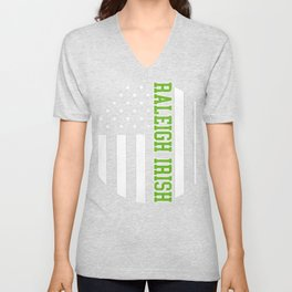 Raleigh Irish graphics by Howdy Swag design Unisex V-Neck