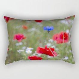 Spring Meadow Poppy Flowers full Bloom Rectangular Pillow