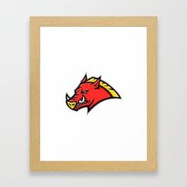 Angry Razorback Mascot Framed Art Print