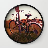 cycling Wall Clocks featuring no cycling  by LeoTheGreat