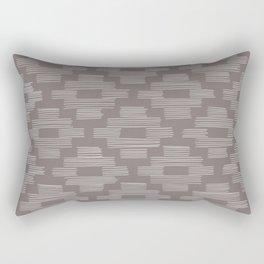 Gray Basketweave Pattern Rectangular Pillow